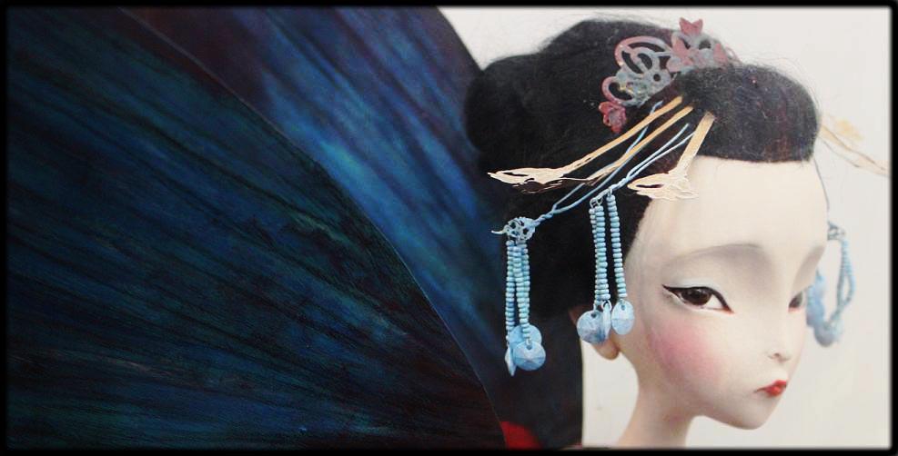 poupée amants papillons