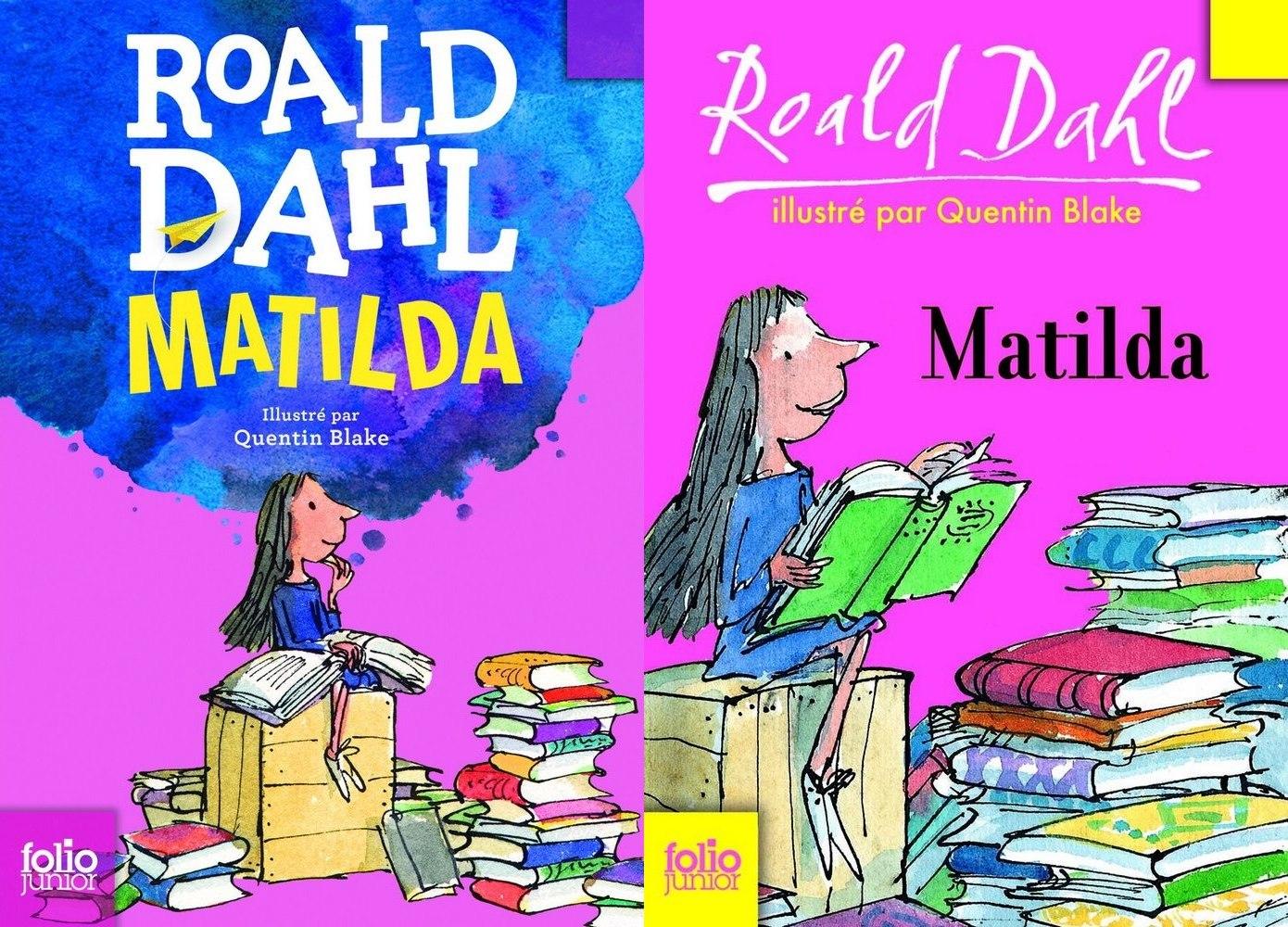 Nouvelles couvertures Roald Dahl matilda