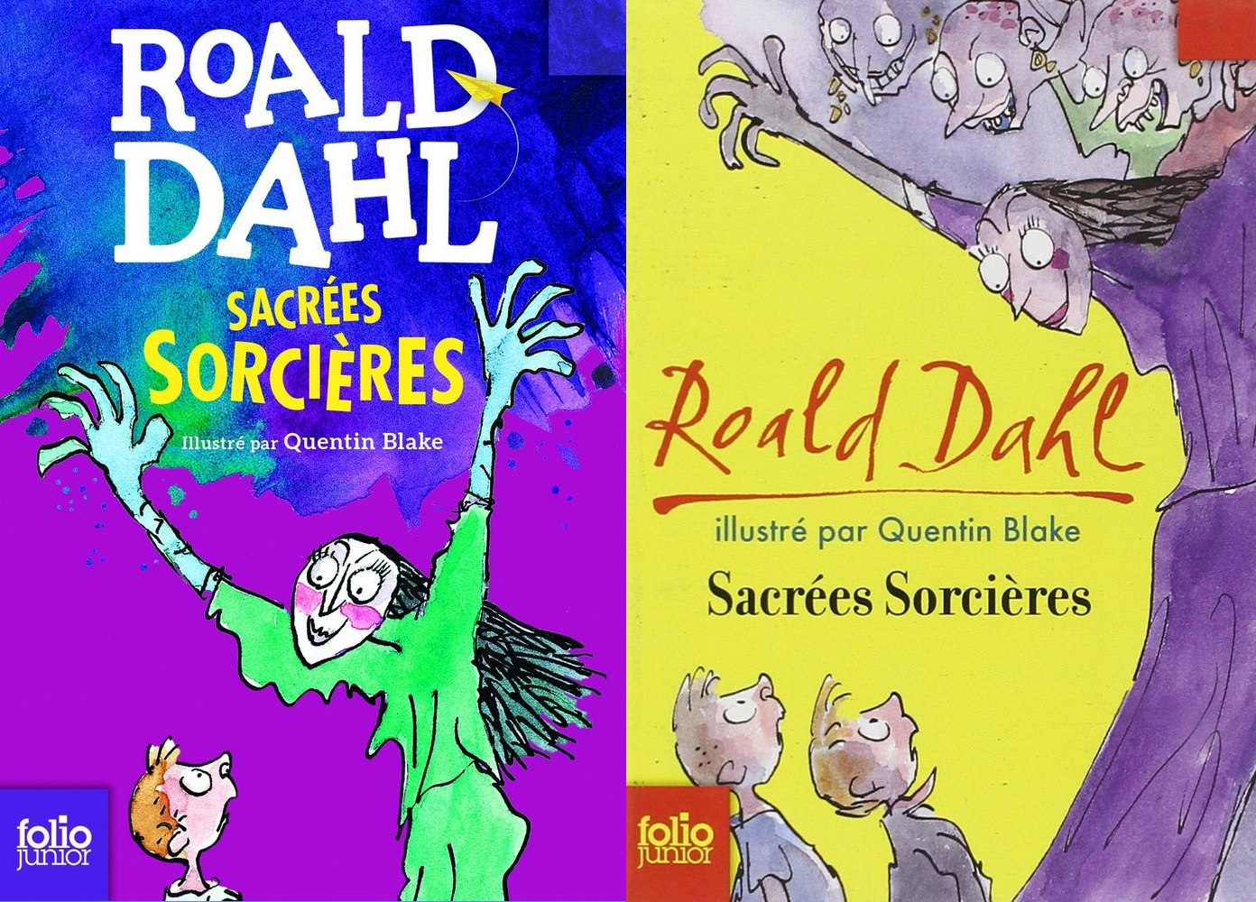 Nouvelles couvertures Roald Dahl sorcières