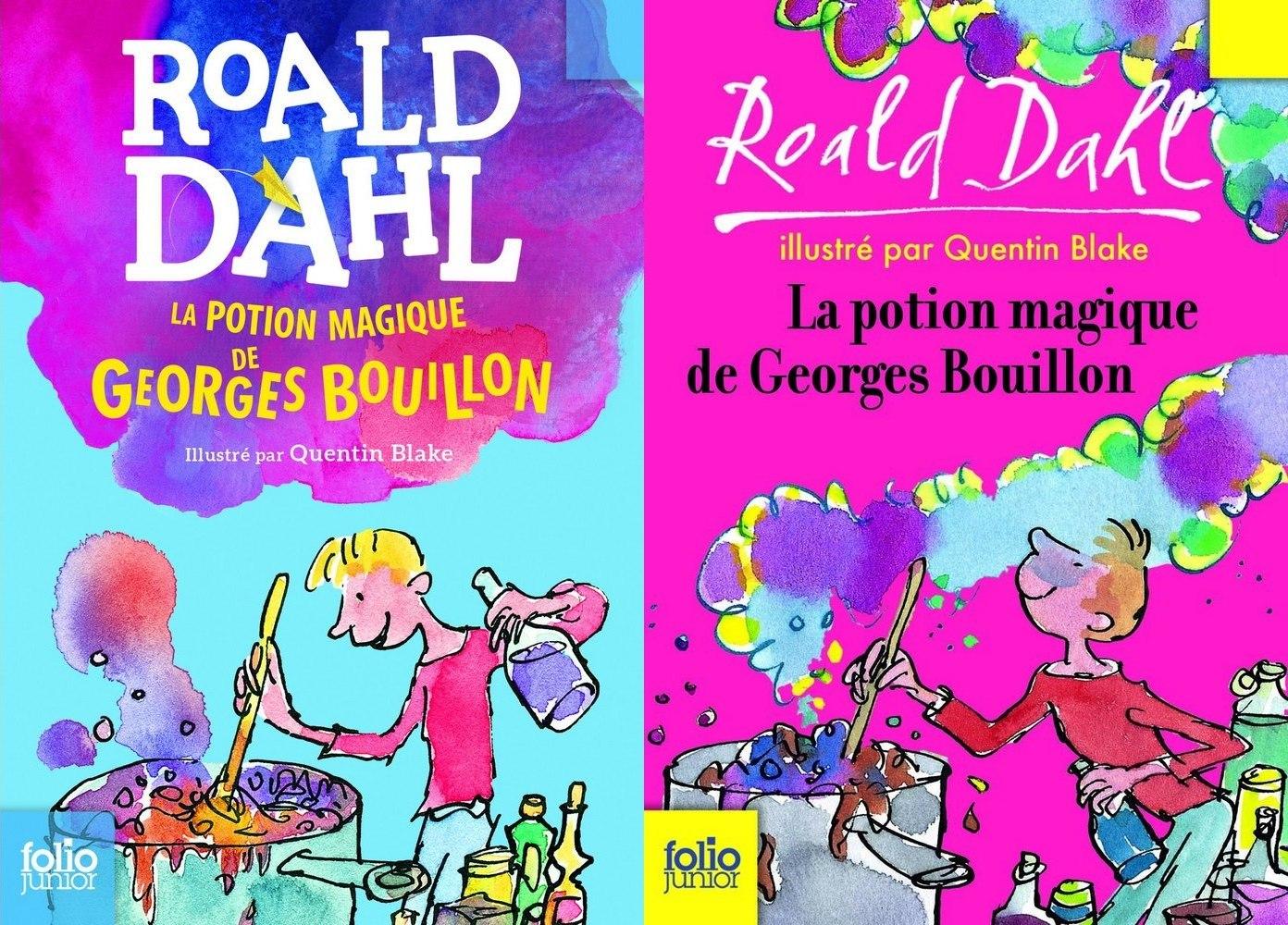 ancienne couvertures Roald Dahl potion