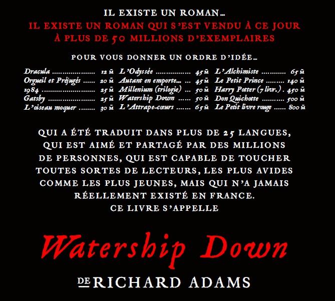Watership Down ventes